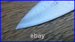 Unmarked Antique SABATIER Small Wide Carbon Steel Nogent Chef Knife RAZOR KEEN