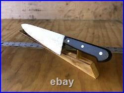 VINTAGE KNIFE CHEF BUTCHER SABATIER FORGE Carbon Steel, 12Blade, SHARP, FRANCE