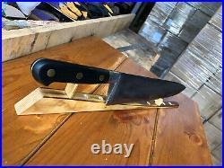 VINTAGE KNIFE CHEF BUTCHER Sabatier K Jeune Garant Carbon Steel 12Carbon Steel