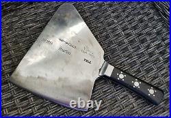 Very Rare Vintage Heavy F Dick TELL Cleaver very hard to find! Nr. 1034