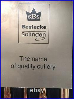 Vg Bestecke SBS Solingen W Germany 70pc Gold Plated 18/10 WIEN Flatware Set Case