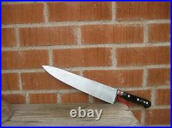 Vintage 10 3/4 Blade SABATIER Fully Forged XL Carbon Chef Knife FRANCE