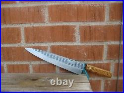Vintage 10 Blade FORGECRAFT Fine XL Carbon Steel Chef Knife USA