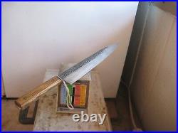 Vintage 10 Blade FORGECRAFT XL Carbon Steel Chef Knife USA