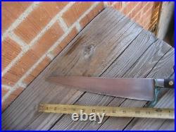 Vintage 11 1/2 Blade SABATIER Chef Au Ritz 2XL Carbon Chef Knife FRANCE