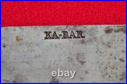 Vintage 12 Blade KA-BAR 12 CARBON STEEL Blade Chef Knife Butcher USA