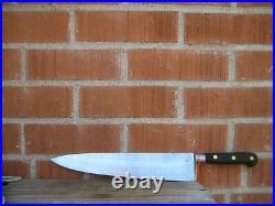 Vintage 12 Blade PROFESSIONAL SABATIER Carbon Chef Knife Wood Handle FRANCE