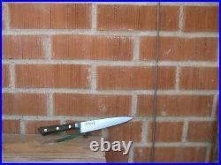 Vintage 5 3/4 Blade JAPANESE CHARACTER Sabatier Style Carbon Chef Knife JAPAN