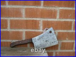 Vintage 6 Blade x 1 3/4 lbs. FOSTER BROS. Solid Steel Cleaver Knife USA
