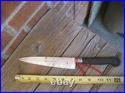 Vintage 7 Blade J. A. HENCKELS TWIN WORKS Nogent Carbon Chef Knife GERMANY