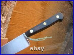 Vintage 8 Blade SABATIER Fine Carbon Chef Knife Wood Handle FRANCE