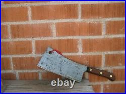 Vintage 8 Blade x 1 3/4 lbs. FOSTER BROS. Solid Steel Cleaver Knife USA
