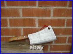 Vintage 8 Blade x 2 1/2 lbs. Weight BRIDDELL Large Cleaver Butcher Knife USA