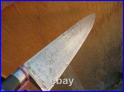 Vintage 9 1/2 Blade SABATIER K Acier Forged Carbon Chef Knife FRANCE