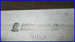 Vintage ANTON WINGEN Germany Carbon Steel Chef Knife withRAZOR SHARP 8-3/8 Blade