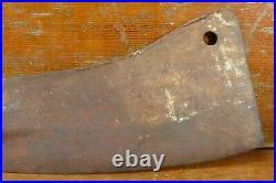 Vintage Antique Large Meat Cleaver Hogsplitter 18 Long 9 Blade Full Tang