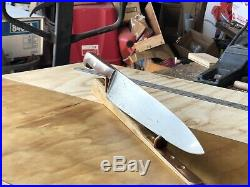 Vintage CHEF KNIFE JA. HENCKELS GRAND PRIZE carbon steel Blade 11.25, RESTORED