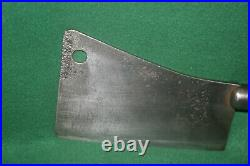 Vintage Clean Foster Bros. 8 Inch Butcher Cleaver withGreat Handle Inv#PH17