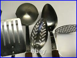 Vintage Cutco 14 pcs Knives + Utensil Set with Bakelite Racks Made in USA
