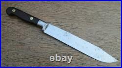 Vintage ESKILSTUNA Sweden Chef's Hand-forged Carbon Butcher Knife RAZOR SHARP