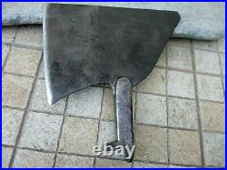 Vintage Enormous Giant Meat Cleaver Butcher Carbon Steel Strong Knife Chopper