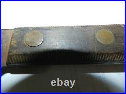Vintage Foster 17 Carbon Steel Scimitar Butcher's Knife Made In USA 12 Blade