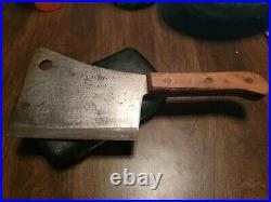 Vintage Foster Bros. Butchers Meat Cleaver with Arrow Trade Mark
