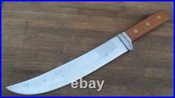 Vintage GENEVA FORGE Korean War US Army Chef's Cimeter Butcher Knife Dated 1951