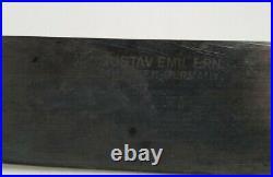 Vintage GUSTAV EMIL ERN Carbon Steel 10.25 Blade Chef's Knife Germany