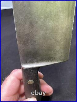 Vintage GUSTAV EMIL ERN Carbon Steel 12 Blade Chef's Knife Germany Antique