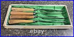 Vintage German Eye Brand Carl Schlieper Steak Knife Set (4) Solingen Germany