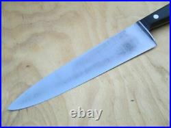 Vintage HENCKELS Germany 8.5 Carbon Steel Chef Knife withRosewood RAZOR SHARP