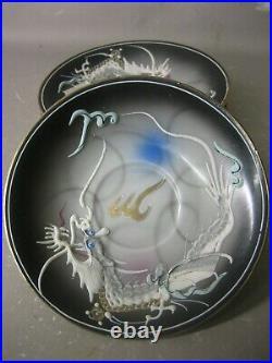 Vintage Japanese hand painted coffee tea set teapot, milk jar, sugar bowl etc