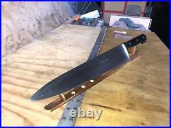 Vintage Knife Chef Butcher ORAK, Forge Carbon Steel 12 Blade, Solingen, Germany
