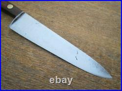 Vintage LAMSON Hand-forged Carbon Steel Chef Knife withRAZOR SHARP 8.25 Blade