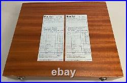 Vintage MCM Arne Jacobsen Denmark Stainless Steel Flatware Original Box 77 pcs
