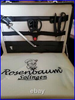 Vintage Rosenbaum Solingen Deluxe 24 pc Knife Set in a Chief Cook Case