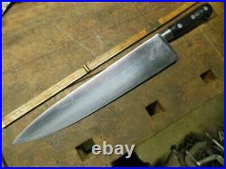 Vintage SABATIER 12 chef knife 4star elephant logo good old kitchen tool