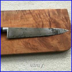 Vintage SABATIER Bongourmet Frenche Carbon Steel Chef Knife Huge 12 Blade