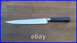 Vintage Sabatier/DEG Chef's Stainless Nogent Slicing Knife withEbony RAZOR SHARP