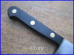 Vintage Sabatier EXTRA-FINE Carbon Steel Chef Knife withEbony RAZOR SHARP