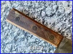 Vintage Unmarked Butchers Lamb Splitter Cleaver Knife 12 Sharp Carbon Steel