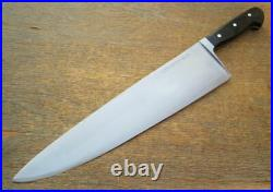 Vintage Wusthof MONSTER Chef Knife WIDE, HEAVY 14.25 Blade withEbony RAZOR KEEN