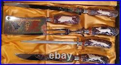 Vtg 5 Piece Anton Wingen Jr. Othello Cutlery Knife Carving Set Solingen Germany
