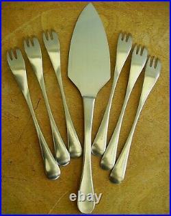 Vtg Rare Alveston Old Hall Cake/Pastry Forks Set 6 & Pie Server Slice R Welch