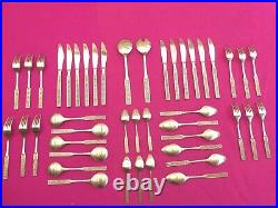 WILTSHIRE BURGUNDY 44 Piece CUTLERY SETTING for 6 People RETRO VINTAGE