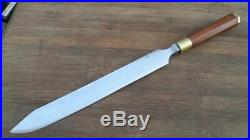 WOW Vintage Custom Carbon Steel Chef's Butcher-style Carving Knife RAZOR SHARP
