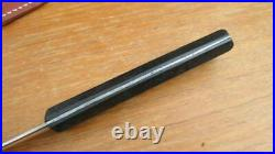 XL Antique NICHOLS BROS. Carbon Steel Fisherman Fillet Knife withSheath RAZOR KEEN