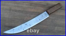 XL Antique Russell GRW Carbon Steel Chef's/Fishmonger's Cimeter Butcher Knife