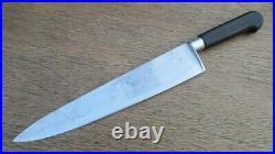 XXL Antique SABATIER Maxeur & Cie. Carbon Steel Nogent Chef Knife RAZOR SHARP